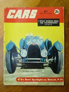 Cars magazine May 1955 - Thunderbird, Wolseley 6-90, Rolls Royce, Karl Kling