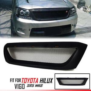 Fit For Toyota Hilux Kun Sr5 Mk6 Vigo 05-11 Front LED Bar Grill Grille Black Net