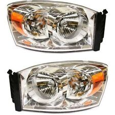 2007 2008 DODGE RAM HEAD LAMP LIGHT PAIR RIGHT PASSENGER & LEFT DRIVER SET