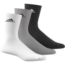 Adidas Mens Womens Socks 3 Pairs Crew Quarter No Show Sports Cotton