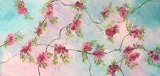 ORIGINAL ABSTRACT CANVAS PAINTING ARTWORK Vintage Flowers Wild Divine Studio