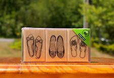 Women's Shoes Flip Flops Slip On 3 Wood Mounted Rubber Stamps 2011 by Hero Arts
