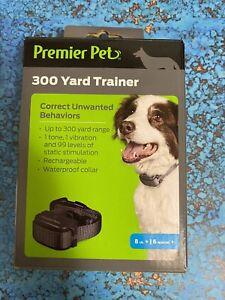 Premier Pet 300 Yard Remote Dog Trainer w/ Tone/Beep + Vibration w/ Collar NEW