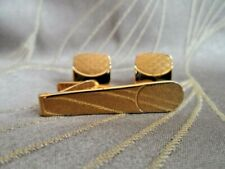 Pair of Goldtone Cufflinks and Tie Pin