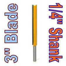 "1 pc 1/4"" SH 3"" Blade Extra Long Straight Router Bit"