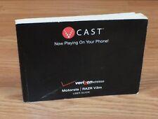 Genuine V Cast Verizon Wireless User Guide Manual Only For Razr V3m **READ**