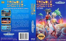 Battle Mania Daiginjo Trouble Shooter Sega MD Replacement Box Art Case Insert