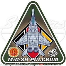 MIG-29 FULCRUM EAST GERMANY AirForce LSK Mikoyan-Gurevich DDR GDR Sticker Decal