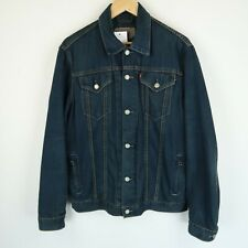 LEVIS Vintage red tab blue denim trucker jacket 72550 SZ LARGE (E8203)
