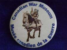 CANADIAN WAR MUSEUM VINTAGE HORSE KNIGHT PROMO BUTTON PIN ADVERTISING CANADA