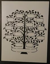 "Family Tree 8.5"" x 11"" Custom Stencil FAST FREE SHIPPING"