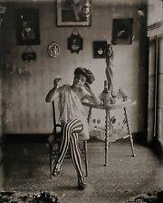 1912 Vintage EJ BELLOCQ New Orleans Female Prostitute Photo Engraving Art 12x16