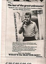VIC GODDARD (Subway Sect) Great Unknown 1980 UK Press ADVERT 10x7 inches