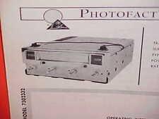 1967 PONTIAC FIREBIRD SPRINT 326 400 CONVERTIBLE 8-TRACK TAPE SERVICE MANUAL 67