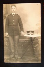 Real Photo, Divided Back Postcard - Man in Military Uniform