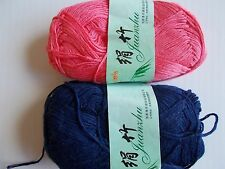 MeiMei Bamboo yarn, navy/rose pink, mixed lot of 2