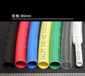 φ5.5mm-7mm Heat Shrinkable Tube 2:1 Heat Tube Insulated 7 Colors Available