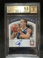 Stephen Curry Autograph Card Turn Of The Century 2013-2014 Elite Beckett 23/50