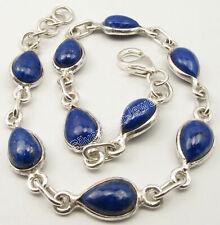 Sterling Silver Navy Blue Drop Lapis Lazuli 13.5 tcw Bracelet Jewellery Gift