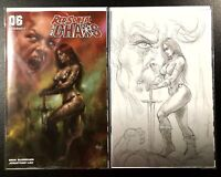 🔥🗡 RED SONJA AGE OF CHAOS #6 PARRILLO SET OF 2 Cvr A & 1:15 B&W Virgin Variant
