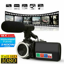 Video Camera Camcorder Vlogging HD 1080P 18X ZOOM Digital Video with Microphone