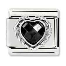 GENUINE Nomination Classic Heart-Shaped Black Stone Charm 330603/011 / £22 RRP