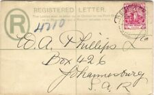 Cape Of Good Hope Queen Victoria 4d Registered Postal Stationery Envelope CGH