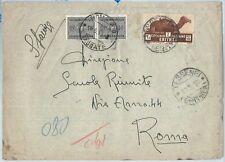 71994 - AOI ERITREA - Storia Postale - BUSTA da TESSENEI tassata SEGNATASSE 1936