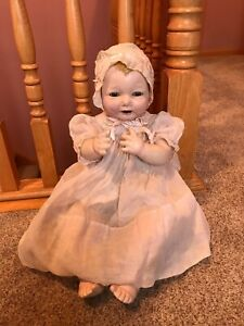 """24"""" Antique Effanbee Bubbles Composition Cloth Baby Character Infant Doll NR TLC"""