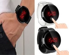 Hot Cool Waterproof Mens Watch LED Touch Screen Date Silicone Wrist Black Watch