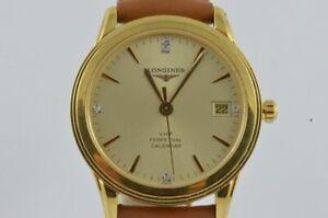 Longines Flagship Vhp Quartz Men's Watch 1 13/32in Steel Gold Vintage L2.722.4