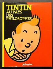 """""""TINTIN AU PAYS DES PHILOSOPHES"""" HARD COVER & JACKET FRENCH 120 pages"""