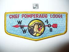 OA Chief Pomperaug Lodge 408,S-2,1960s Flap,313 Tankiteke,389,521,Connecticut,CT