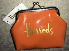 Harrods Orange Small Coin Purse NWT Novelty
