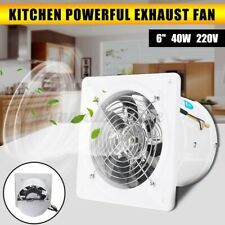 6'' Inline Duct Shutter High Speed Exhaust Fan Air Cleaning Cooling Blower 40W