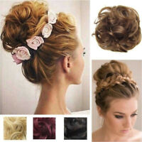 Large Comb Clip In Curly Hair Piece Chignon Updo Hairpiece Extension Hair Bun