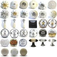 Vintage Ceramic Porcelain China Cupboard Door Knobs Drawer Pulls