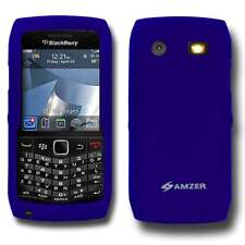 Amzer Blue Silicone Skin Jelly fit Case Cover for Blackberry Pearl 9105