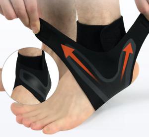 1x Ankle Brace Support Wrap Sleeve Adjustable Breathable Neoprene Sports Black