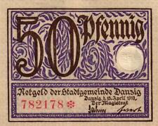 Ro 790 50 Pfennig 1919 Danzig UNC