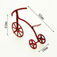 1:12 Miniature red bicycle dollhouse diy doll house decor accessories Jf