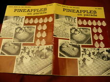 Pineapples on parade coats mercer crochet cotton book No 96 table cloth runner