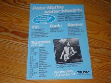 PETER MAFFAY - EIN WORT BRICHT DAS SCHWEIGEN / 1 TELDEC PROMO-FACTS (DIN-A-4)