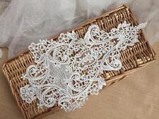 Bridal Applique Trim Ivory Embroidery Applique Sew on Lace Wedding Motif 1 Piece