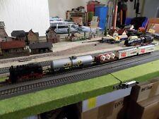 LIMA, STEAM ENGINE 80006 WITH FOUR WAGONS, CARGO TRAIN SET, SCALE HO