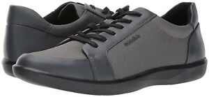 Men Athletic Sneakers Calvin Klein Shoes Macabee Brushed Leather Gray F0915