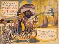 PROPAGANDA CIVIL RIGHTS WOMAN SUFFRAGE WASHINGTON FINE ART PRINT POSTER CC3929
