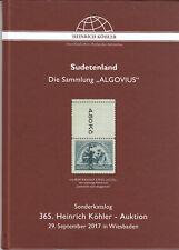 Auktionskatalog Köhler Sudetenland  Algovius