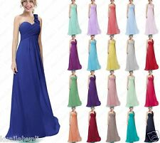 Chiffon One Shoulder Evening Formal Party Ball Gown Prom Bridesmaid Dresses 6-18