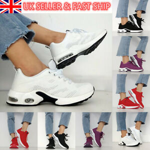 UK WOMENS LADIES RUNNING TRAINERS SPORTS SNEAKERS KNIT LACE UP WOMENS SHOES SIZE